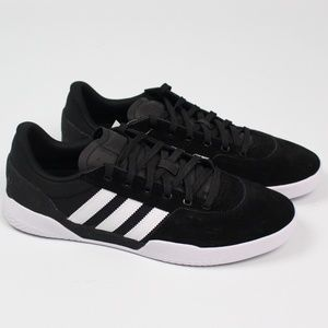 adidas city cup black white skateboard shoes